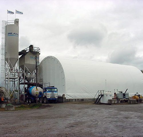 An entire bulk concrete plant out of the elements and capable of operating year round - we can cover that too!